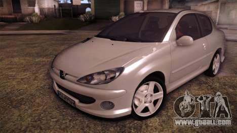 Peugeot 206 SD Coupe for GTA San Andreas
