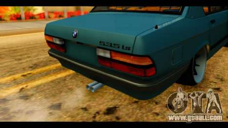 BMW 535is for GTA San Andreas back view
