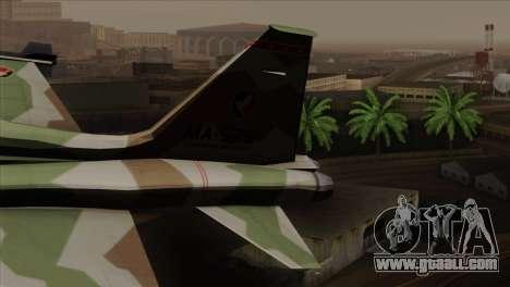 Northrop F-5 Estovakian Air Force for GTA San Andreas back left view