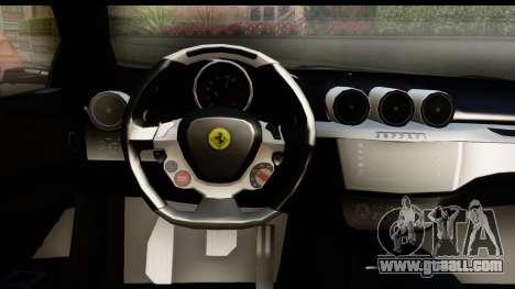 NFS Rivals Ferrari FF for GTA San Andreas inner view