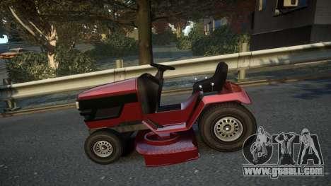GTA V Lawn Mower for GTA 4 left view