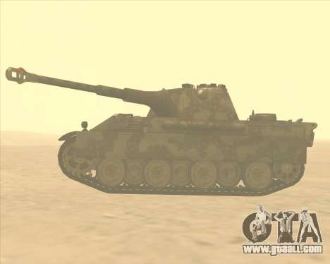 Pz.Kpfw. V Panther II Desert Camo for GTA San Andreas left view