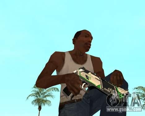 Green Pack Asiimov CS:GO for GTA San Andreas seventh screenshot