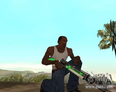Green Pack Asiimov CS:GO for GTA San Andreas fifth screenshot