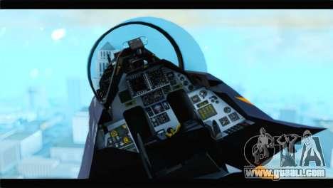 F-16D Fighting Falcon Dutch Demo Team J-015 for GTA San Andreas right view