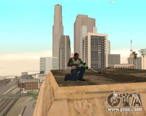 Green Pack Asiimov CS:GO for GTA San Andreas forth screenshot