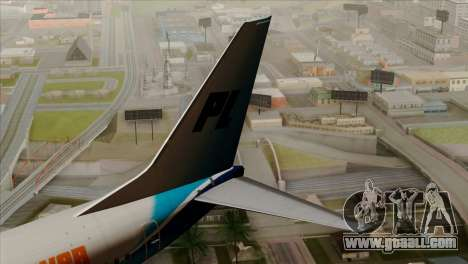Boeing B737-800 Pilot Life Boeing Merge for GTA San Andreas back left view