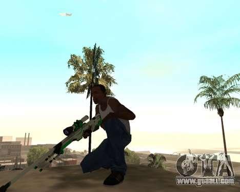 Green Pack Asiimov CS:GO for GTA San Andreas third screenshot