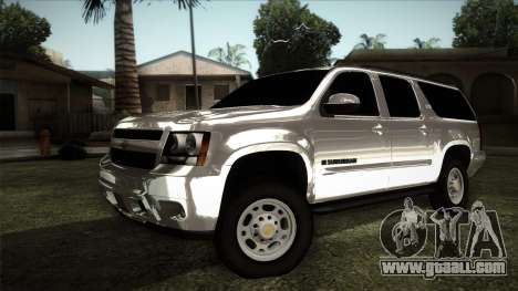 Chevrolet Suburban Plateada for GTA San Andreas