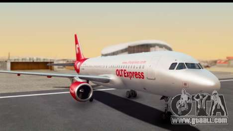 Airbus A320-200 OLT Express for GTA San Andreas back left view