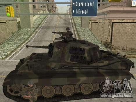Panzerkampfwagen Tiger II for GTA San Andreas back view