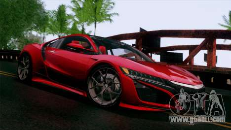 Acura NSX 2016 v1.0 JAP Plate for GTA San Andreas
