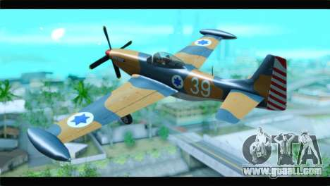 F-51D Israeli Air Force for GTA San Andreas left view