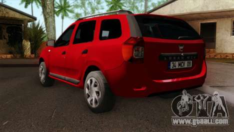 Dacia Logan MCV 2013 HQLM for GTA San Andreas left view