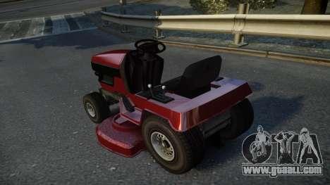GTA V Lawn Mower for GTA 4 back left view