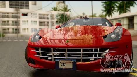 NFS Rivals Ferrari FF for GTA San Andreas back left view