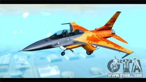 F-16D Fighting Falcon Dutch Demo Team J-015 for GTA San Andreas