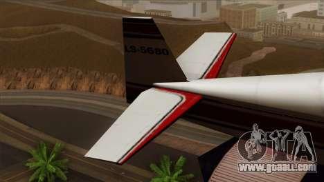 GTA 5 Stuntplane for GTA San Andreas back left view