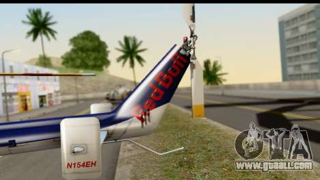 MBB Bo-105 Red Bull for GTA San Andreas back left view