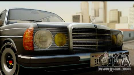 Mercedes-Benz 240 W123 Stance for GTA San Andreas back left view