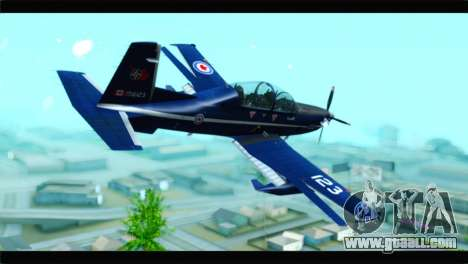 Beechcraft T-6 Texan II Royal Canadian Air Force for GTA San Andreas left view