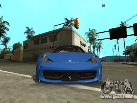 Ferrari 458 Italia for GTA San Andreas back left view