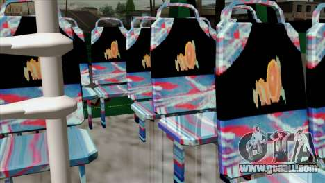 Toyota Microbus v2 for GTA San Andreas back view
