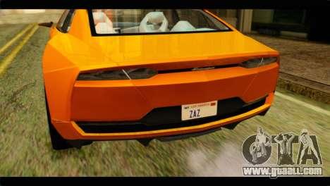 Lamborghini Estoque for GTA San Andreas back view