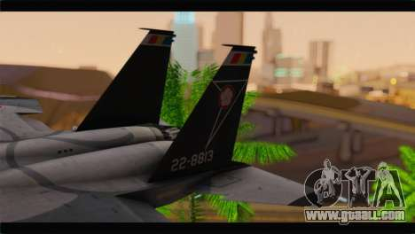 F-15J Hyakuri Air Base 30th Anniversary for GTA San Andreas back left view