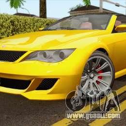 GTA 5 Ubermacht Zion XS Cabrio for GTA San Andreas Ubermacht Zion Cabrio Gta 5