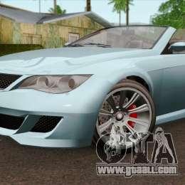 GTA 5 Ubermacht Zion XS Cabrio IVF for GTA San Andreas Ubermacht Zion Cabrio Gta 5
