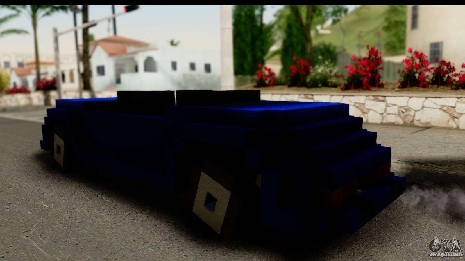 Minecraft Car for GTA San Andreas