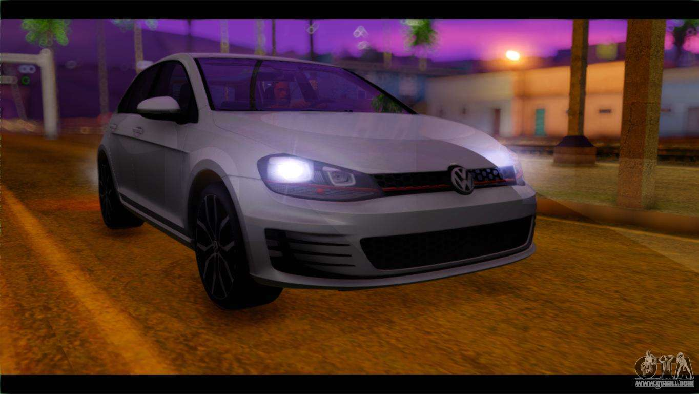 6 Passenger Vehicles >> Volkswagen Golf 7 for GTA San Andreas