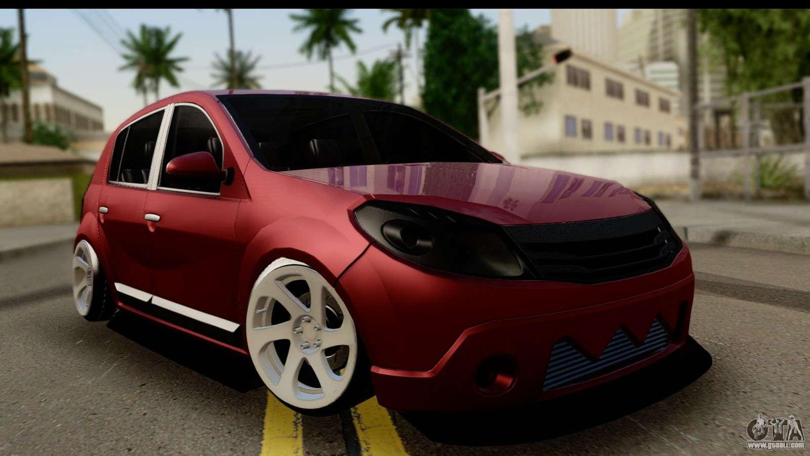 6 Passenger Vehicles >> Dacia Sandero Low Tuning for GTA San Andreas