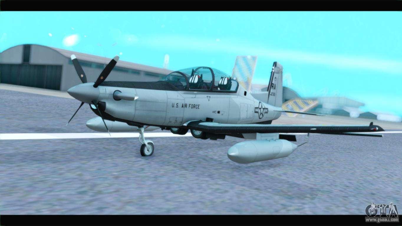 Beechcraft T-6 Texan II US Air Force 4 for GTA San Andreas