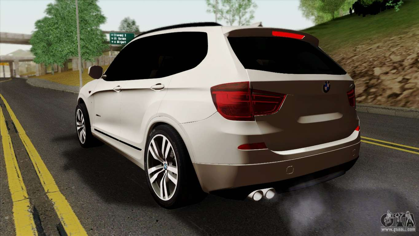 bmw x3 f25 2012 for gta san andreas. Black Bedroom Furniture Sets. Home Design Ideas