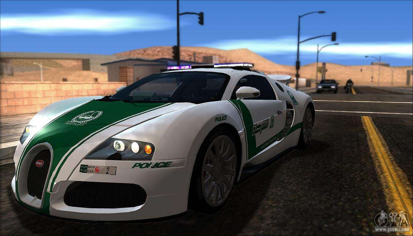 bugatti veyron 16 4 dubai police 2009 for gta san andreas. Black Bedroom Furniture Sets. Home Design Ideas