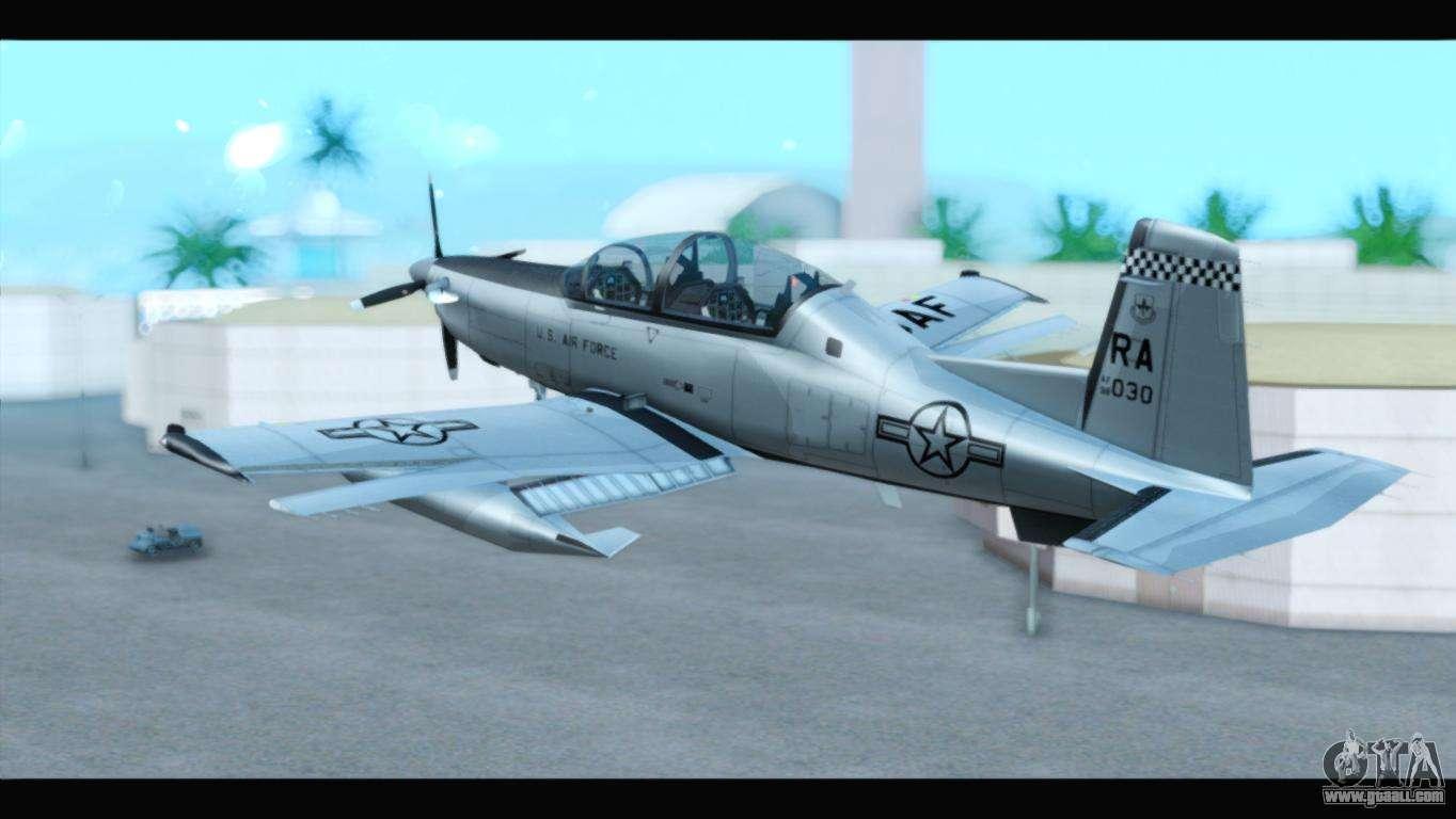 Beechcraft T-6 Texan II US Air Force 3 for GTA San Andreas
