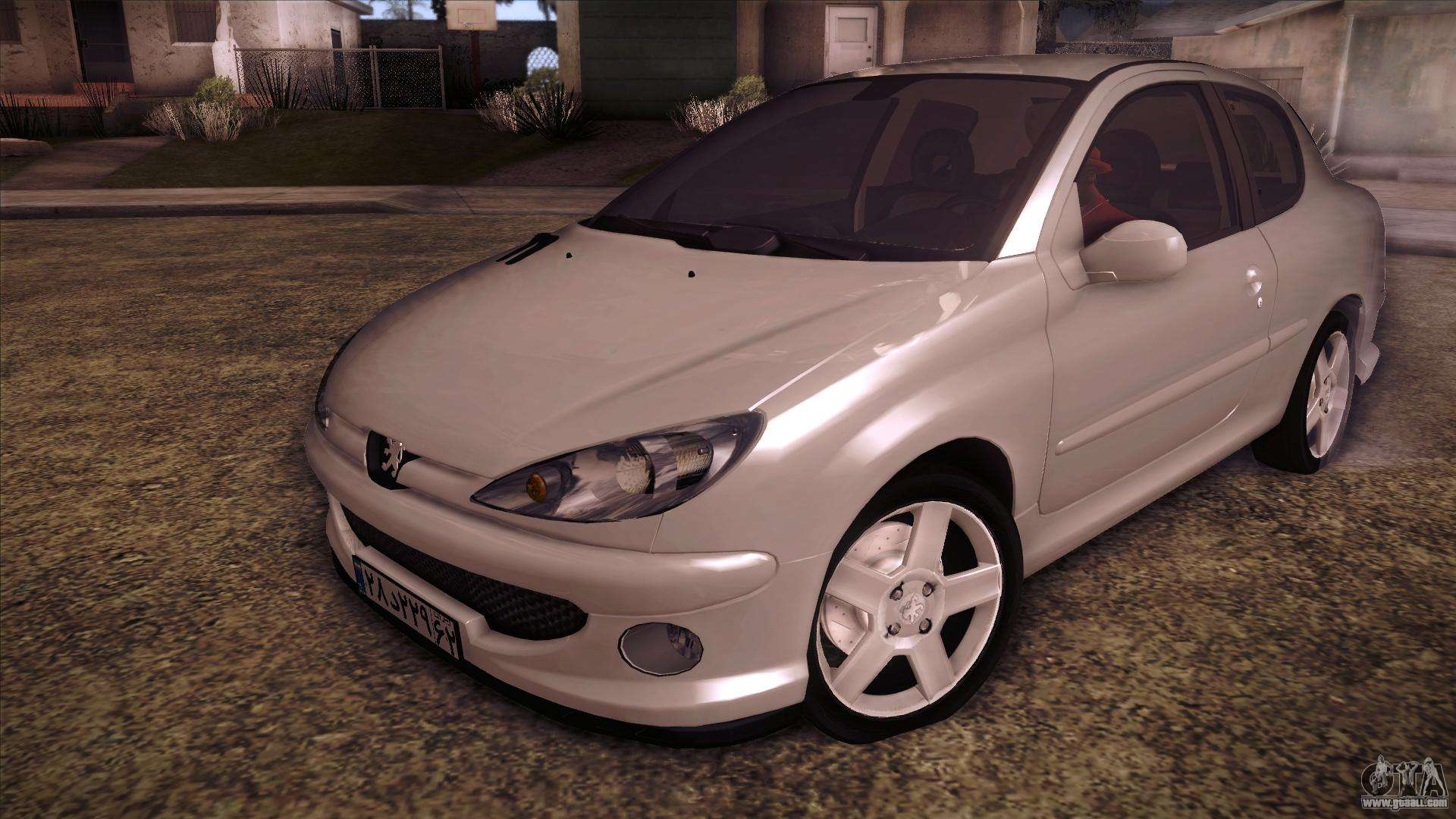 peugeot 206 sd coupe for gta san andreas. Black Bedroom Furniture Sets. Home Design Ideas