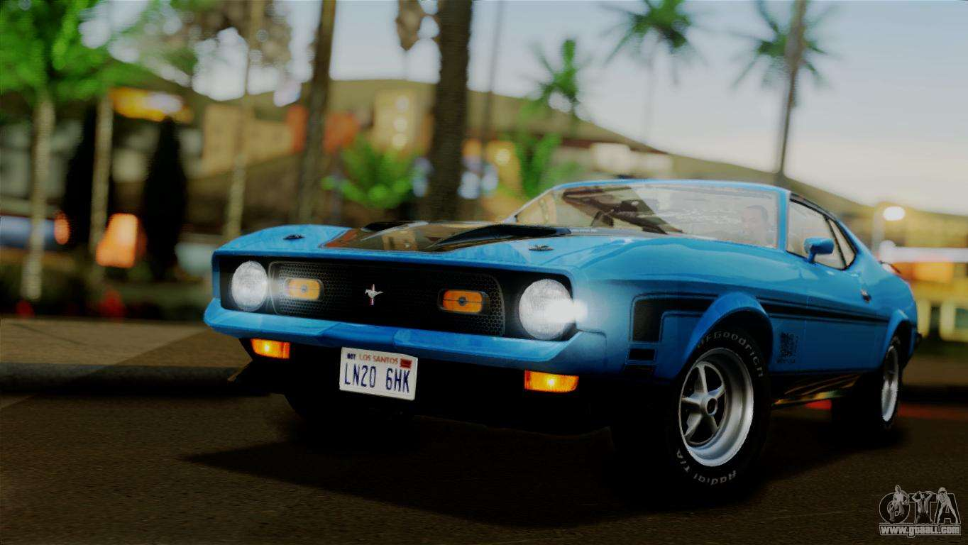 Ford Mustang Mach 1 429 Cobra Jet 1971 Ivf АПП For Gta San