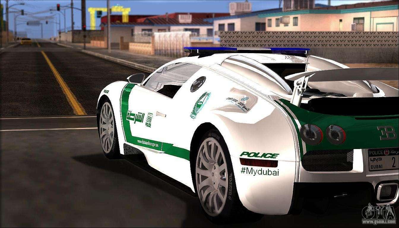 bugatti veyron 16 4 dubai police 2009 for gta san andreas. Black Bedroom Furniture Sets. Home Design Ideas