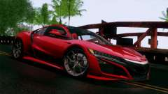 Acura NSX 2016 v1.0 JAP Plate for GTA San Andreas