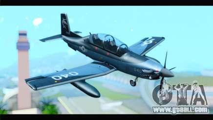 Beechcraft T-6 Texan II United States Navy 2 for GTA San Andreas