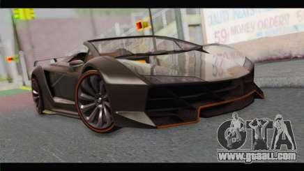 GTA 5 Pegassi Zentorno Spider for GTA San Andreas