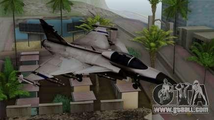 Saab 39 Gripen Custom Indigo Squadron for GTA San Andreas