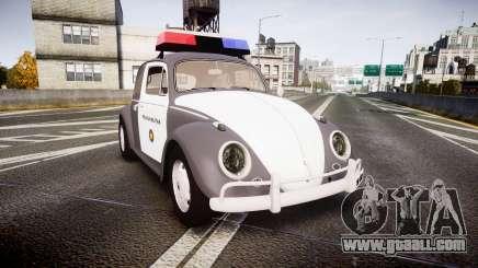 Volkswagen Fusca 1980 Military Police Sao Paulo for GTA 4