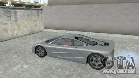 1992 McLaren F1 Clinic Model Custom Tunable v1.0 for GTA San Andreas inner view