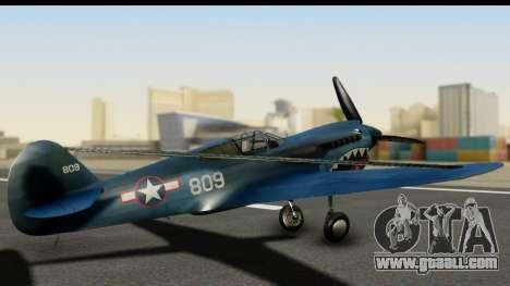 P-40E Kittyhawk US Navy for GTA San Andreas left view