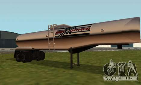 PS2 Petrol Trailer for GTA San Andreas left view