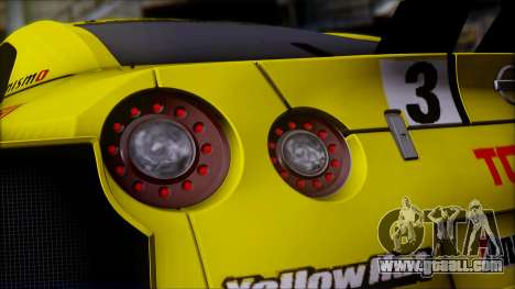 Nissan GTR R35 JGTC Yellowhat Tomica 2008 for GTA San Andreas upper view